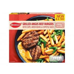 Birds Eye Grilled Angus beef burger