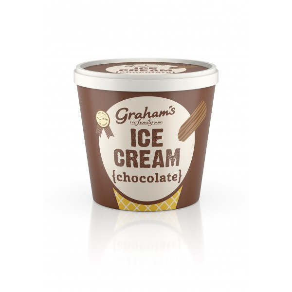 Graham's Chocolate ice cream Tub