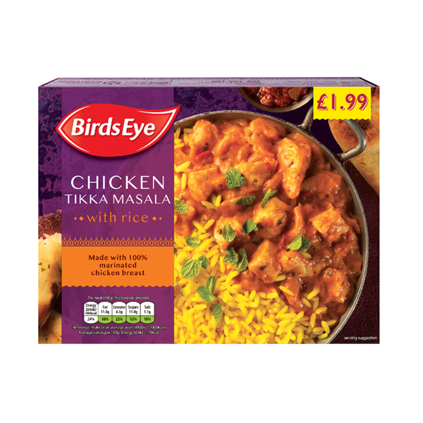 Birds Eye chicken tikka masala