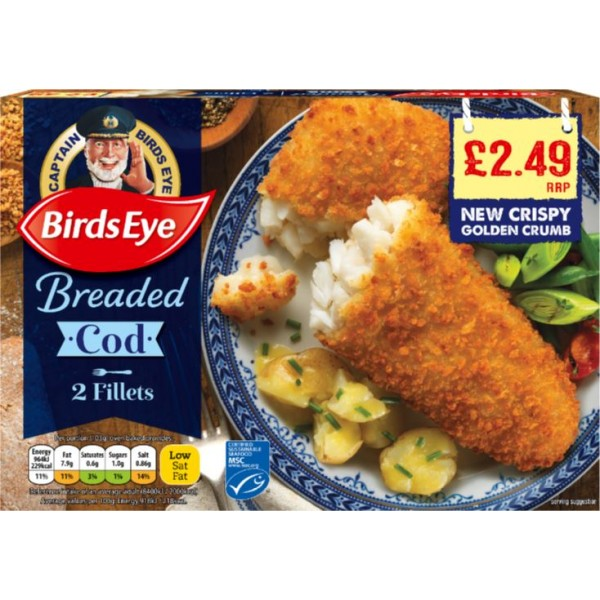 Birds Eye Cod in Breadcrumbs