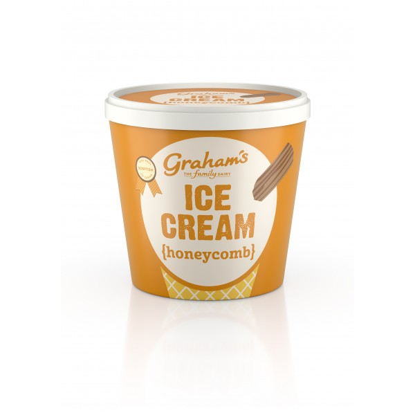 Graham's Honeycomb ice cream Tub