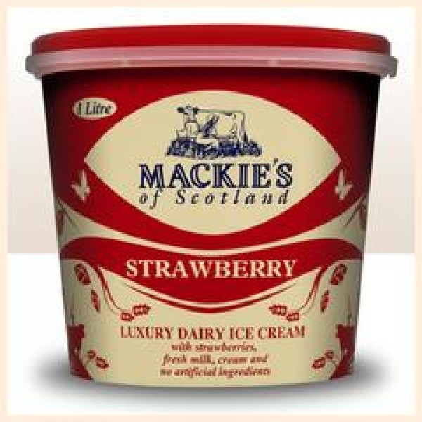 Mackie's Strawberry Ice Cream Tub 1ltr