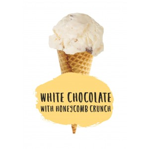 Marshfield Farm White Choc Honeycomb 5ltr Napoli
