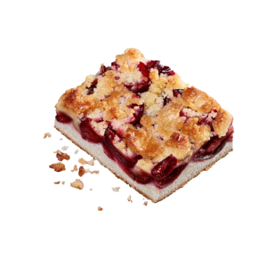Perfectly Baked Plum Crumble Slice