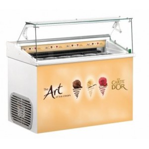 Top 6 Carte D'Or branded ice cream scooping freezer