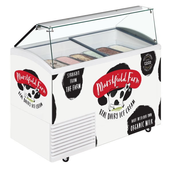 Marshfield ice cream scooping freezer