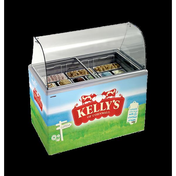 Kellys ice cream scooping freezer