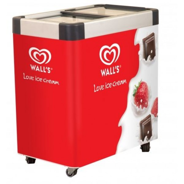 Wall's branded ice cream freezer - Queue 6