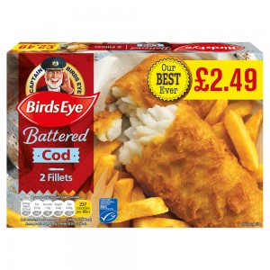 Birds Eye Cod in Batter