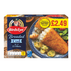 Birds Eye Cod in breadcrumbs