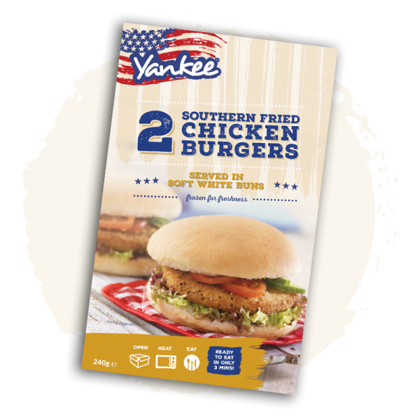 Yankee Southern Fried Chicken burgers