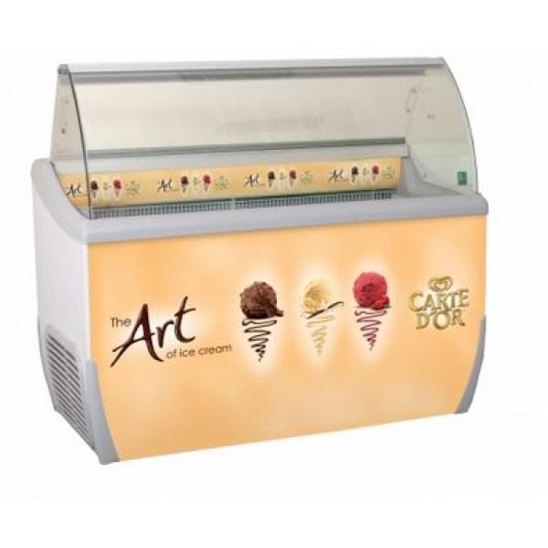 J7 Extra Carte D'Or branded ice cream scooping freezer