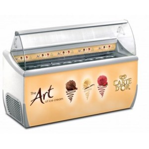 J9 Extra Carte D'Or branded ice cream scooping freezer