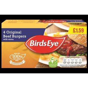 Birds Eye original beef burger
