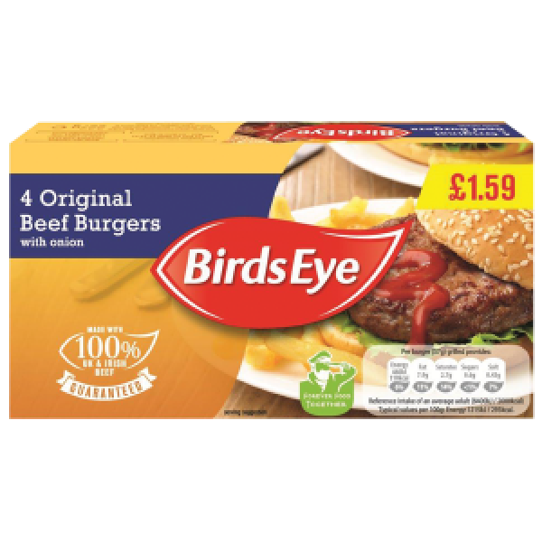 Birds Eye original beef burger