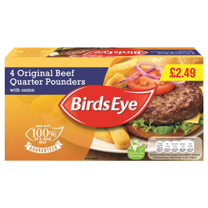 Birds Eye Beef Burger 1/4 Pounder