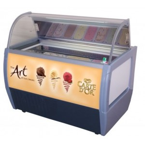 Rumba 10 Carte D'Or Branded Ice Cream Scooping Freezer
