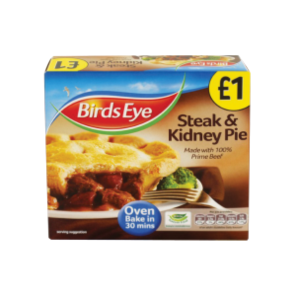 Birds Eye steak and kidney pie