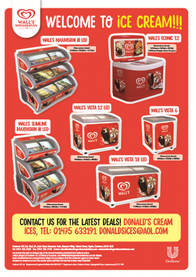 Donald's Cream Ices Freezer Offer 2016