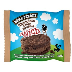 Ben & Jerry Chocolate Fudge Brownie Wich